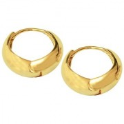 Men Style Best Quality Korean Made Big Salaman Khan Inspired Gold 316 L Stainless Steel Round Hoop Earring For Men An