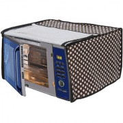 Glassiano Polka White and Black Printed Microwave Oven Cover for Bajaj 20 Litre Grill Microwave Oven 2005 ETB White