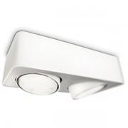 57952/31/16 CONFIDENT plate/spiral white 2x9W 230V