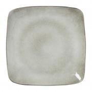Xenos Vierkant bord Toscane - grijs - 25 cm