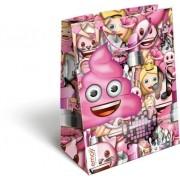 Smiley, emoji ajándéktáska 23x18x9 cm Pink Poop