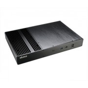 Akasa Thin Mini ITX Computer Case Galileo T, Fanless, Aluminium,2 HP Cooler, USB