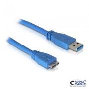 CABLE USB 30 TIPO AM MICRO BM AZUL