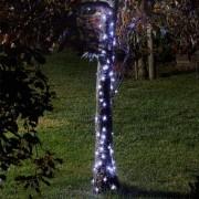 Kültéri LED mikroszálas fényhuzal világítás, időzítős, 10 m hideg fehér