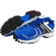 Port Men's Synthetic PVC Blue Rezzer Rubber Stud Cricket Shoes