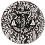 Dare by Voylla Oxidized Anchor Brooch Inspired By Nautical Collection