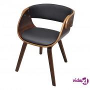 vidaXL Blagovaonska Stolica s Drvenim Okvirom Smeđa