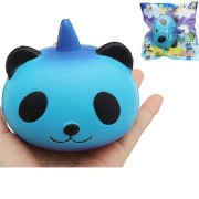 Sanqi Elan Galaxy Panda Unicorn Squishy 9.5 9 7.5cm Slow Rising With Packaging Collection Soft Toy
