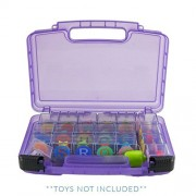 Flip Flop Blocks Case, Toy Storage Carrying Box. Figures Playset Organizer. Accessories for Kids by LMB