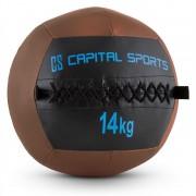 CAPITAL SPORTS WALLBA 14 стенна медицинска топка 14 кг изкуствена кожа кафява (FIT20-Epitomer)