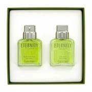 Calvin Klein Eternity 3.4 oz / 100.55 mL Eau De Toilette Spray + 3.4 oz / 100.55 mL After Shave Gift Set Men's Fragrance 422003