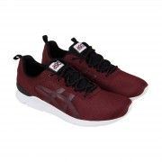 Asics Gel Lyte Runner Mens Red Canvas Casual Low Top Sneakers Chaus...