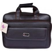Fashion Knockout 15 inch Expandable Laptop Messenger Bag(Brown)