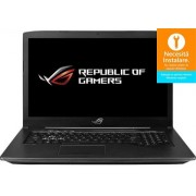 Laptop Gaming ASUS ROG GL703GE-EE083 (Procesor Intel® Core™ i7-8750H (9M Cache, up to 4.10 GHz) Coffee Lake, 17.3 FHD, 8GB, 256GB SSD + 1TB HDD@7200RPM, nVidia GeForce GTX 1050Ti @4GB, Wireless AC, Tastatura iluminata, Free DOS, Negru)