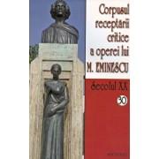 Corpusul receptarii critice a operei lui M. Eminescu, Secolul XX, Vol. 30-31/***