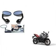 Kunjzone Premium Quality Motorycle Bar End Mirror Rear View Mirror Oval for Suzuki GIXER