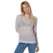 The Hidden Way Sheer Slinky Oversized Knit Grey