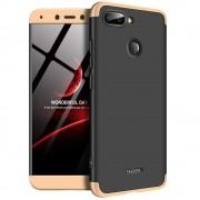 GKK 360 Protection telefon tok hátlap tok Első és hátsó tok telefon tok hátlap az egész testet fedő Xiaomi redmi 6 fekete-arany