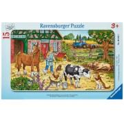 Puzzle viata la ferma, 15 piese Ravensburger
