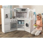 Bucatarie Ultimate Corner Play Kitchen White - KidKraft