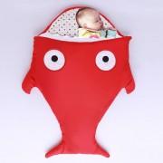 Cute SHARK Estilo Ropa Bolsa De Dormir De Bebe 0 - 6 Meses Baby, Tamaño: 85yard (rojo)