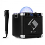 BC-10 Impianto Karaoke Luci da Party LED Bluetooth Batteria USB AUX-In nero