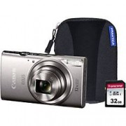 Canon Digital Camera IXUS 285 HS 20.2 Megapixel Silver + 1 x 32GB SD Card, 1 x Case