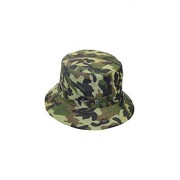 ELECTROPRIME® Fashion Womens Mens Bucket Hat Boonie Flat Hunting Fishing Outdoor Cap Sun Hat (Camouflage)