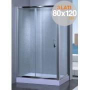 Box cabina doccia in cristallo trasparente mm 6 mod. Yadira cm. 80x120x80