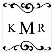 Trodat Tampon monogramme carré - initiales avec arabesques design