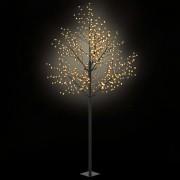 vidaXL LED коледно дърво за закрито и открито, IP44 300 см, топло бяло