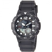 Casio Youth - Combination Analog-Digital Black Dial Mens Watch - Aeq-100W-1Avdf(Ad204)