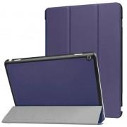 Кожен калъф със сгъващ се капак за Huawei MediaPad M3 Lite 10.1 инча - тъмно син
