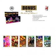 Bonus Black Plastic Bonus Blacl Plastic Playing Card, 2 Packs Packed In 6 Pieces, Black Color