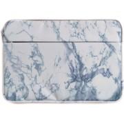 Laptop Sleeve 14 inch Blauwgrijs - Marmer - Marble Voor alle merken laptops - o.a. MacBook - Lenovo - HP