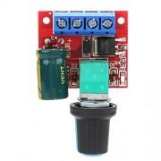 Keenso Interruptor del controlador de velocidad del motor de CC, 5V-28V 5A PWM Regulador de voltaje LED del regulador del interruptor de control de velocidad del motor de CC Dimmer