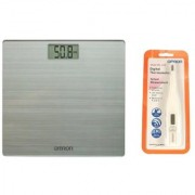 Omron Hn- 286 Weighing Scale With Omron Thermometer Mc-246 Health Care Combo