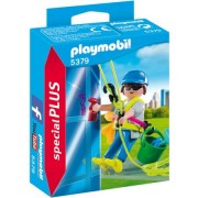 Set figurine Playmobil - Curatator de geamuri