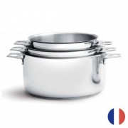 """De Buyer"" ""Lot de 3 casseroles amovibles en inox TWISTY De Buyer"""