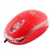 Mouse Esperanza Titanum TM102R cu fir optic USB rosu
