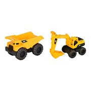 Cat Tough Trucks 2 Pack Dump Truck And Excavator