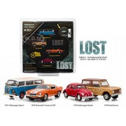 "Hollywood Film Reels Series 4 ""Lost"" (2004 2010) Tv Series 4 Cars Set 1/64 By Greenlight 59040 A"