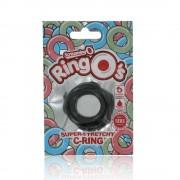 Screaming O - szilikon péniszgyűrű (fekete)