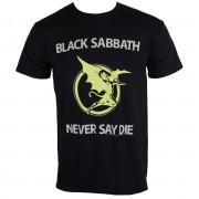 tricou stil metal bărbați unisex Black Sabbath - Never Say Die - BRAVADO EU - BSTS10MB
