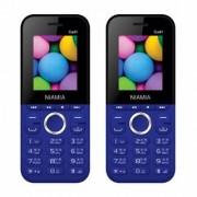 Niamia CAD 1 Blue Basic Keypad Feature Mobile Phone Combo