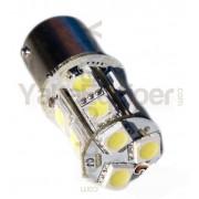 Ampoule 39 LED S25 R5W 1156 BA15S culot P21W - Blanche pour Veilleuse