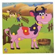 Skillofun Wooden Theme Puzzle Standard Cow Knobs, Multi Color