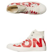 Converse Womens Chuck Taylor All Star Wordmark Hi Shoe Natural Red Natural Red