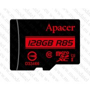 Micro SDHC card + Adapter (128GB class 10) Apacer - водоустойчива