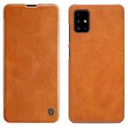 Bolsa Flip Nillkin Qin para Samsung Galaxy A51 - Castanho